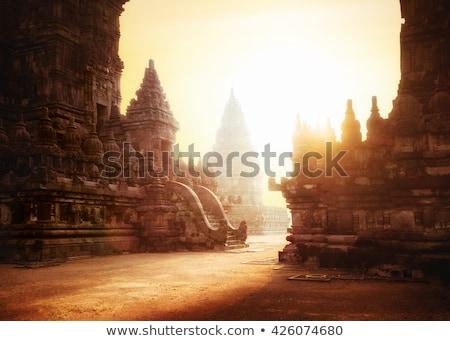 Tapınak küçük taş doğu mumlar içinde Stok fotoğraf © Koufax73