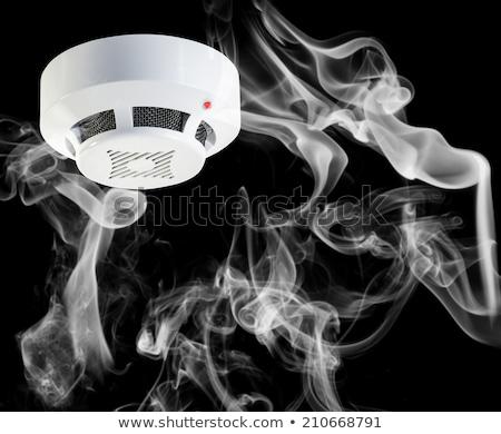 Stockfoto: Rook · rond · brand · sensor · witte · huis