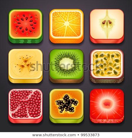 Web Internet Square Vector Yellow Icon Design Set 2 Stock photo © rizwanali3d