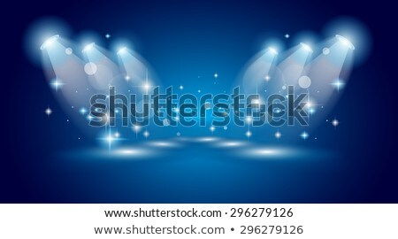 theatre show spotlights with lights ans stars stock photo © davidarts