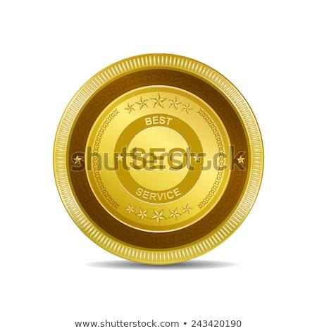 SEO Golden Vector Icon Button Stock photo © rizwanali3d