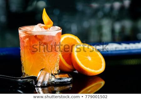 Koktajl whisky likier owoców tle lodu Zdjęcia stock © netkov1