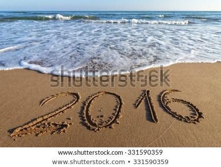 2016 On Sand At Beach Stock photo © Digoarpi