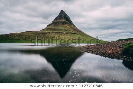 Reflection of Mount Kirkjufell Stock photo © elxeneize