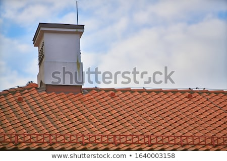 House with tiled roof Stock photo © Klinker