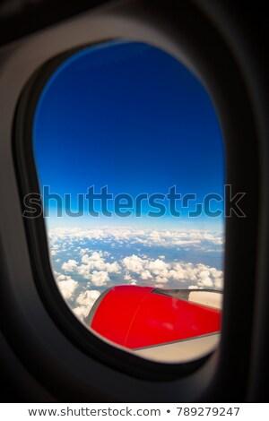 Jet flying high above Stock photo © klikk