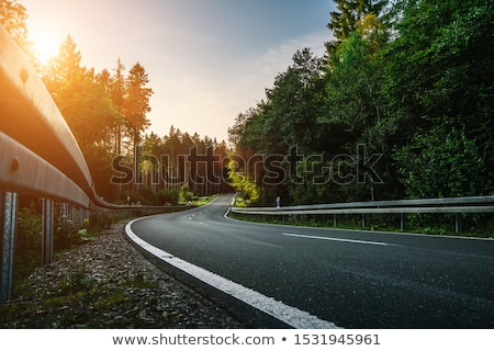 Curved mountain road stock photo © Steffus