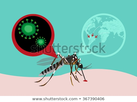 Illustration of Zika virus Stock photo © IMaster