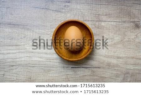 ruw · ei · eierdooier · witte · voedsel · vers - stockfoto © Digifoodstock
