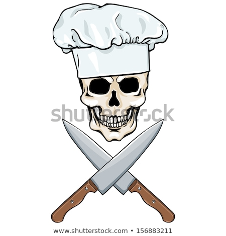 Skull Chef Pirate Cartoon Stock photo © Krisdog
