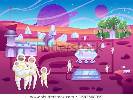 Happy Cartoon Mars Stock photo © cthoman