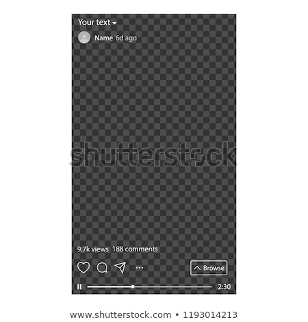 Stock photo: Interface social media. Template a app for watching long-form, vertical video. The user started watc