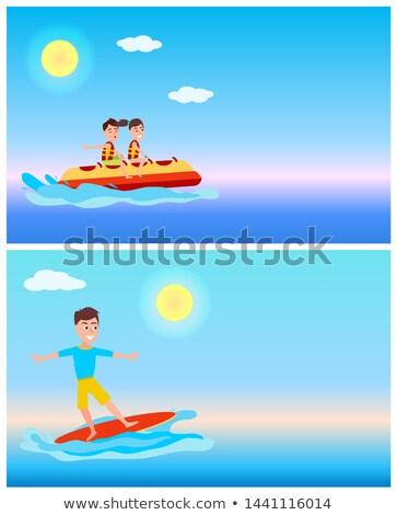 Banane bateau surf été sport activité Photo stock © robuart