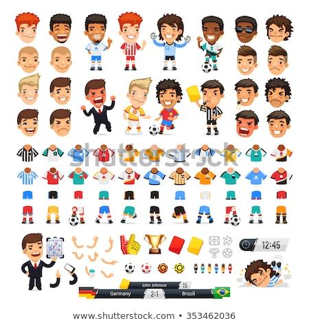 Cartoon · futbolista · vector · arte · ilustración - foto stock © cthoman