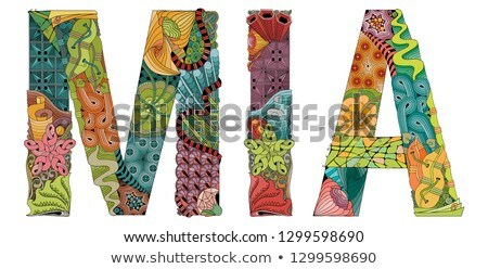 female name mia vector decorative zentangle object stock photo © natalia_1947