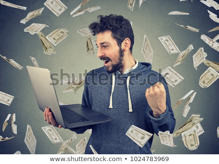 Stock photo: Business man making money