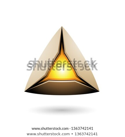 Beige piramide kern vector illustratie Stockfoto © cidepix
