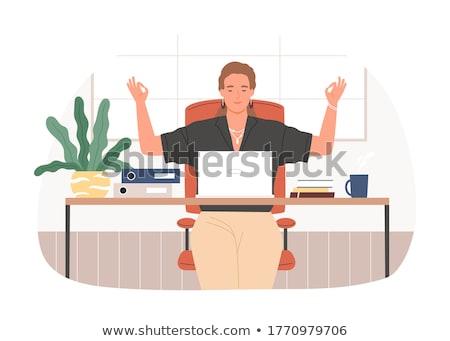 gespannen · manager · jonge · moe · kantoormedewerker · aanraken - stockfoto © pressmaster