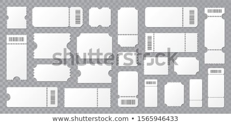 A circus ticket template Stock photo © bluering