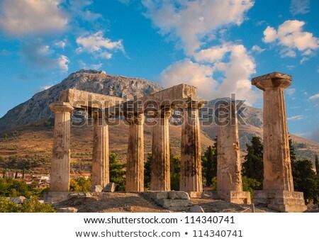 Tempel oude Griekenland ruines hemel zomer Stockfoto © borisb17