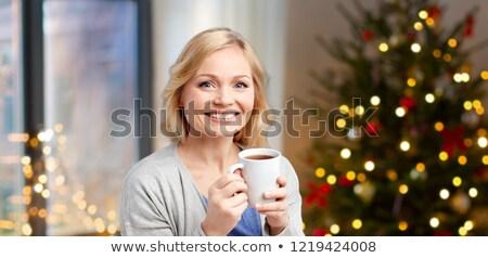 Choinka domu wakacje ludzi szczęśliwy Zdjęcia stock © dolgachov