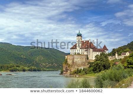 Oostenrijk kasteel verlagen bank donau Stockfoto © borisb17