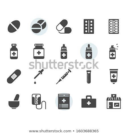 Prescrizione vettore icona isolato bianco medici Foto d'archivio © smoki
