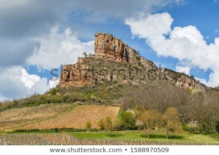 Kaya Fransa fransız kalker km Stok fotoğraf © borisb17