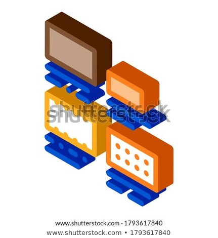 Brick Types Sizes Isometric Icon Vector Illustration Stock photo © pikepicture
