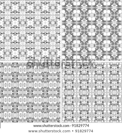 Seamless Metal Arabic Textures Set Vintage Design Stock fotó © fotoscool