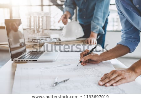 engineer with plans stock photo © photography33