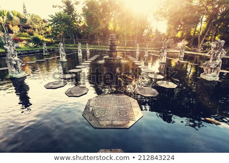 lótus · lagoa · bali · Indonésia · água · paisagem - foto stock © travelphotography