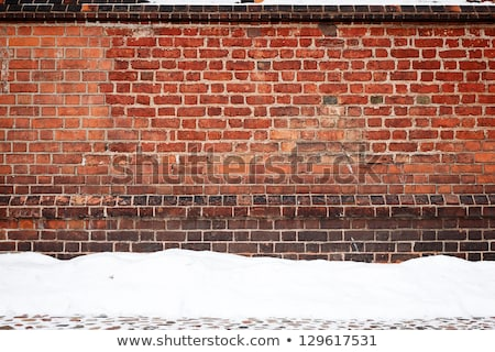 Old wall and snow Stock photo © Taigi