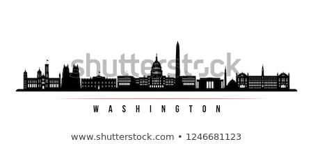 silhouette of Washington Stock photo © perysty