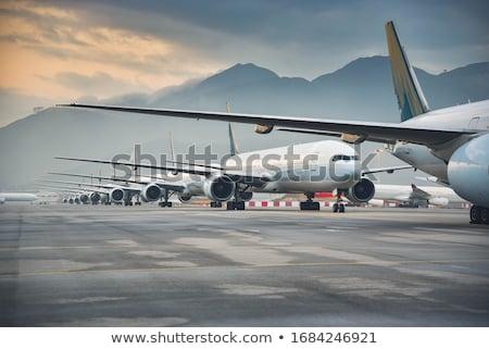 business · vliegtuig · af · vliegen · hemel - stockfoto © studiotrebuchet