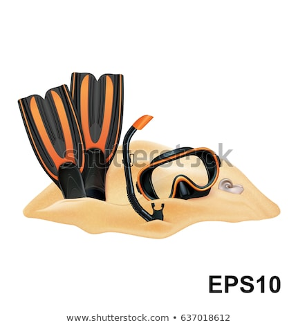 flippers, mask and snorkel Stock photo © mastergarry