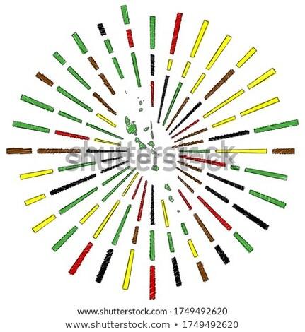 Bandeira Vanuatu mão cor país estilo Foto stock © claudiodivizia