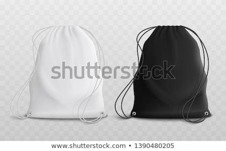 ストックフォト: 靴 · 袋 · 女性 · 黒 · ハイヒール · 階
