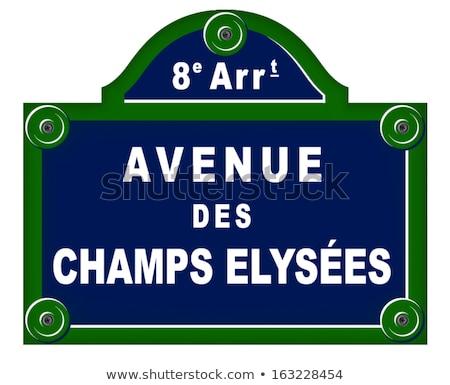 Párizs · részletes · vektor · sziluett · üzlet · égbolt - stock fotó © nickylarson974