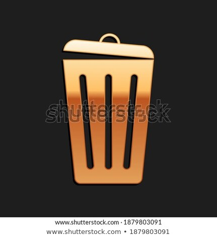recycle golden vector icon button stock photo © rizwanali3d