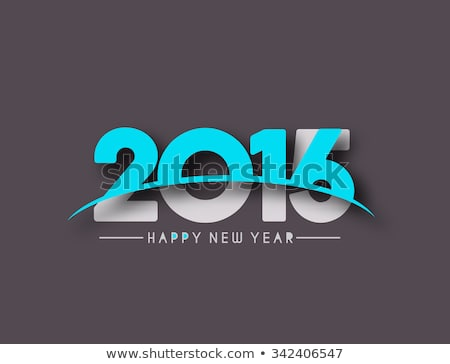 happy new year card paper 2016 text design stock photo © netkov1
