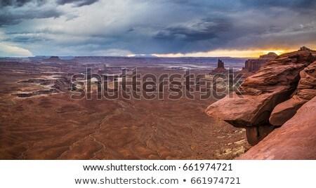красочный закат каньон природы Сток-фото © meinzahn