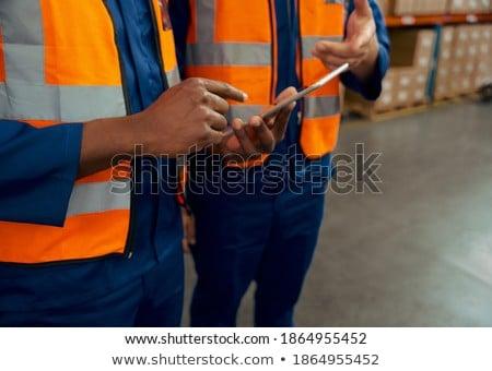 Technicus digitale tablet olie fabriek Stockfoto © wavebreak_media