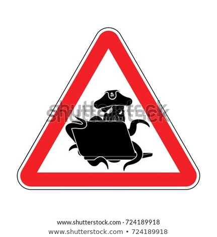 Attention web pirate poulpe portable prudence Photo stock © popaukropa
