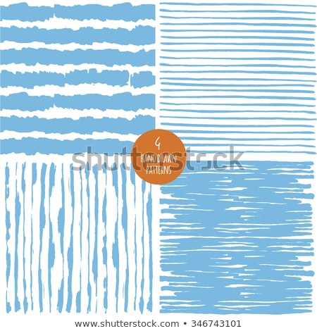 Hand drawn striped seamless pattern with brushstrokes tiling. Abstract freehand texture for print Stock photo © Samolevsky