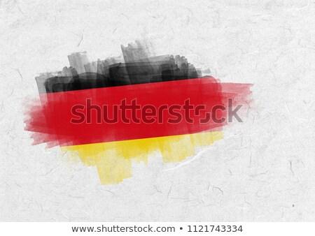 Németország zászló pergamen Stock fotó © wavebreak_media