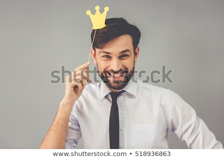 worker guy with crown Stock photo © vector1st