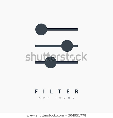 Filter control settings isolated minimal icon in black . Line vector icon for websites and mobile mi stock photo © kyryloff