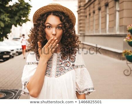 szabadtér · divat · portré · fiatal · gyönyörű · divatos - stock fotó © ElenaBatkova