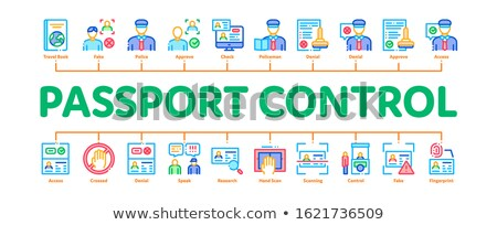 Passport Control Check Minimal Infographic Banner Vector Stock photo © pikepicture